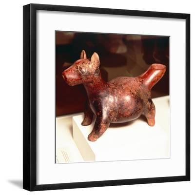 Pottery vessel of Ancient breed of Mexican dog, Colima Culture, Mexico, 300-900-Unknown-Framed Giclee Print