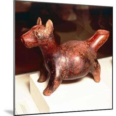 Pottery vessel of Ancient breed of Mexican dog, Colima Culture, Mexico, 300-900-Unknown-Mounted Giclee Print