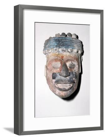 Aztec Pottery Head, 1300-1521-Unknown-Framed Giclee Print