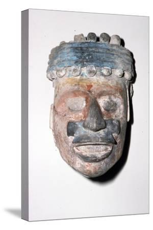Aztec Pottery Head, 1300-1521-Unknown-Stretched Canvas Print