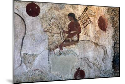 Return of a warrior, Lucan tomb painting, Paestum, c4th century BC-Unknown-Mounted Giclee Print