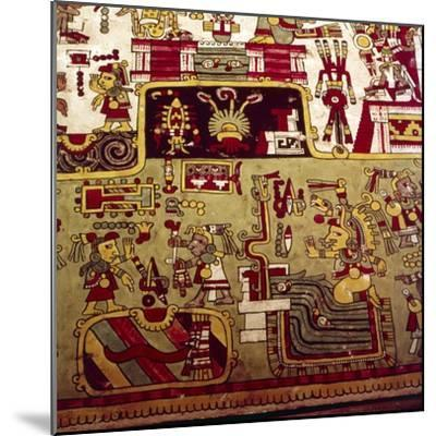 Codex Zouche-Nuttall is a pre-Columbian document of Mixtec pictography, 1200-1521-Unknown-Mounted Giclee Print