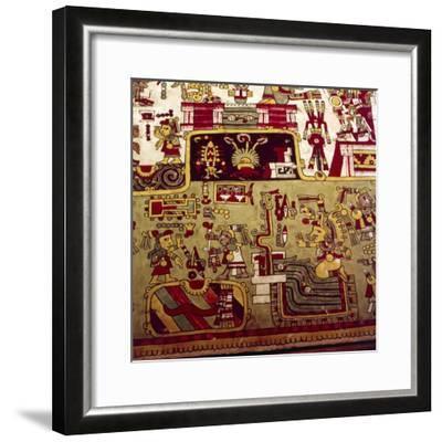 Codex Zouche-Nuttall is a pre-Columbian document of Mixtec pictography, 1200-1521-Unknown-Framed Giclee Print