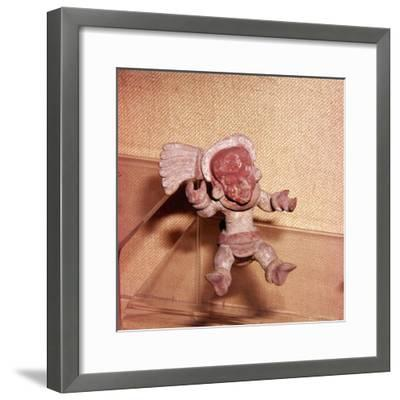 Mexican Terracotta Figurine, Huaxtec Culture, Aztec Period, c15th century-Unknown-Framed Giclee Print