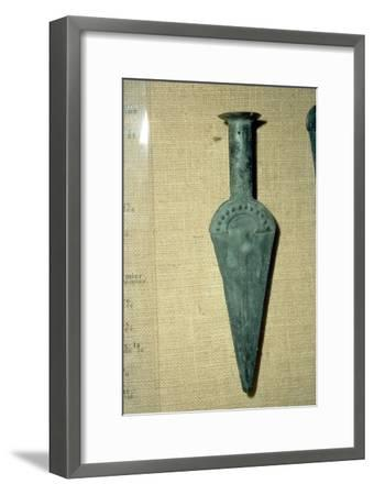Bronze Sword from hoard found in Abruzzi region, Italy, 1800-1500 BC-Unknown-Framed Giclee Print