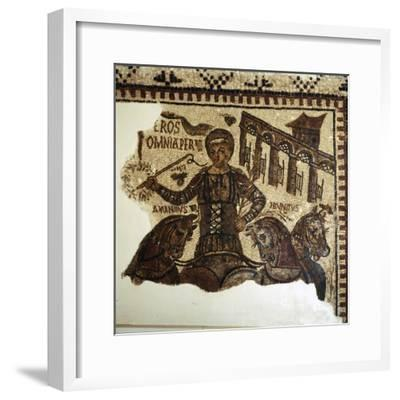 Roman Mosaic, Charioteer (Eros), c2nd-3rd century-Unknown-Framed Giclee Print