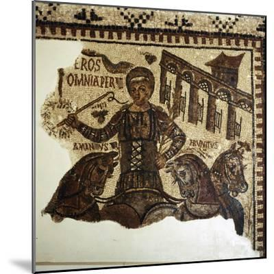 Roman Mosaic, Charioteer (Eros), c2nd-3rd century-Unknown-Mounted Giclee Print