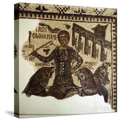 Roman Mosaic, Charioteer (Eros), c2nd-3rd century-Unknown-Stretched Canvas Print