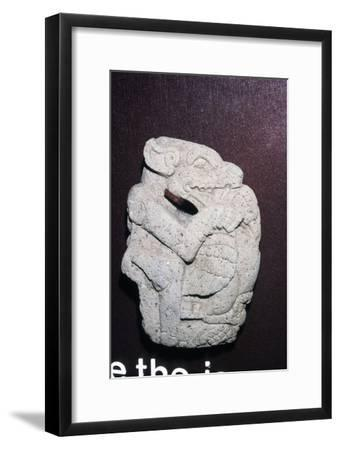 Aztec stone carving of Jaguar killing a Vulture, Hacha, Veracruz state: Mexico, 400-700-Unknown-Framed Giclee Print