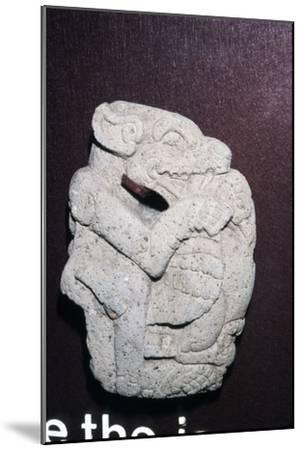 Aztec stone carving of Jaguar killing a Vulture, Hacha, Veracruz state: Mexico, 400-700-Unknown-Mounted Giclee Print