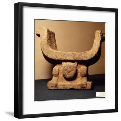Jaguar Throne carved from lava stone, Pre-Columbian from Manaos, Ecuador-Unknown-Framed Giclee Print