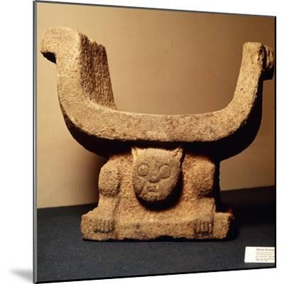 Jaguar Throne carved from lava stone, Pre-Columbian from Manaos, Ecuador-Unknown-Mounted Giclee Print