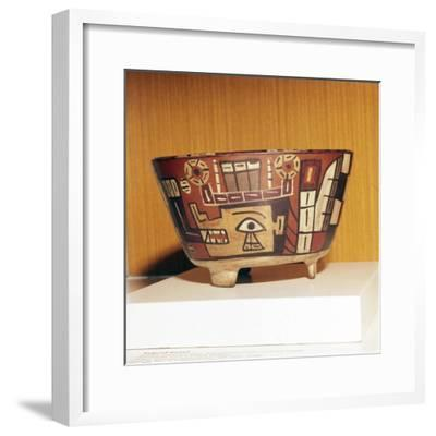 Pottery Bowl from Tiahuanaco Culture, Peru, 600-1000-Unknown-Framed Giclee Print