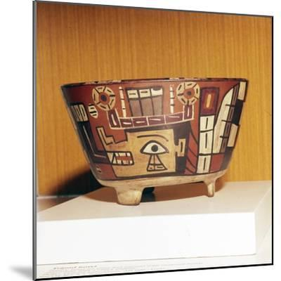 Pottery Bowl from Tiahuanaco Culture, Peru, 600-1000-Unknown-Mounted Giclee Print