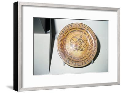 Pottery Plate with Deer motif, Mixtec, Cholula, Mexico, 1300-1521-Unknown-Framed Giclee Print