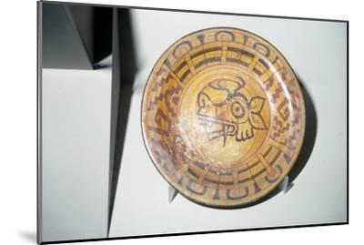 Pottery Plate with Deer motif, Mixtec, Cholula, Mexico, 1300-1521-Unknown-Mounted Giclee Print