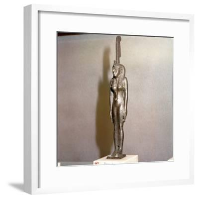 Egyptian bronze, Goddess Maat, (Truth), 26th Dynasty, c664BC-332BC-Unknown-Framed Giclee Print