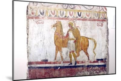 Horseman, Lucan tomb painting, Paestum, c4th century BC-Unknown-Mounted Giclee Print