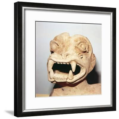 Head of Monster on Pot, from Ecuador, Pre Columbian-Unknown-Framed Giclee Print