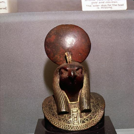 Egyptian bronze, Aegis of RA with the Solar Disc, c590BC-Unknown-Giclee Print