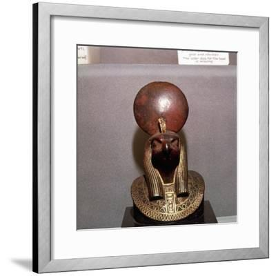 Egyptian bronze, Aegis of RA with the Solar Disc, c590BC-Unknown-Framed Giclee Print