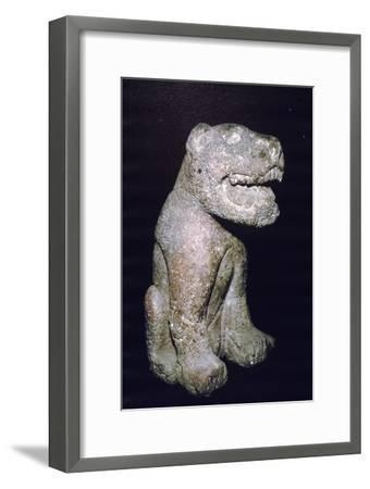 Aztec stonecarving of Jaguar, from Valley of Mexico, 1400-1521-Unknown-Framed Giclee Print