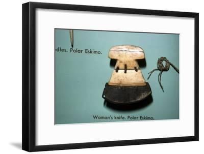 Inuit, Polar Eskimo or Inughuit, Woman's knife in Bone and steel-Unknown-Framed Giclee Print