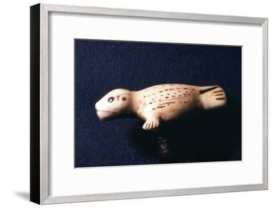 Eskimo Carving, Young Seal, 18th-19th century-Unknown-Framed Giclee Print