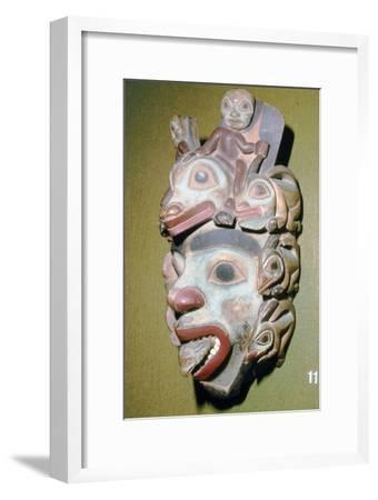 Alasa, Face Mask with fish from coming out of mouth, North American Indian-Unknown-Framed Giclee Print