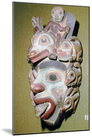 Alasa, Face Mask with fish from coming out of mouth, North American Indian-Unknown-Mounted Giclee Print