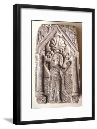 Early Coptic Funerary Slab, 3rd-4th century-Unknown-Framed Giclee Print
