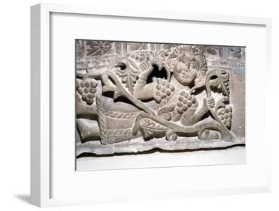 Dionysos, Limestone relief, Ahnassia El-Medina, Beni-Souef, 3rd Century-Unknown-Framed Giclee Print