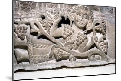 Dionysos, Limestone relief, Ahnassia El-Medina, Beni-Souef, 3rd Century-Unknown-Mounted Giclee Print