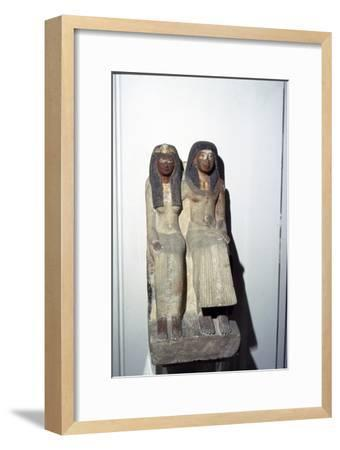 Neje and his mother, New Kingdom. 19th Dynasty, 1300BC-1200BC-Unknown-Framed Giclee Print