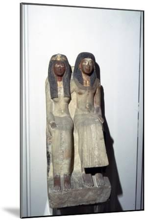 Neje and his mother, New Kingdom. 19th Dynasty, 1300BC-1200BC-Unknown-Mounted Giclee Print