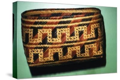 North American Chitimacka Indian Basket-Unknown-Stretched Canvas Print