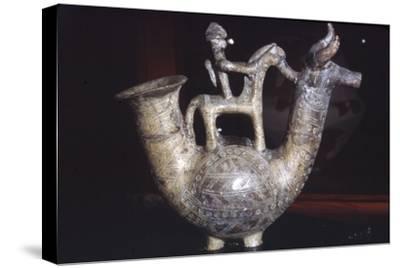 Earthenware Vessel, Villanova Culture, from Bologna, Italy, 8th century BC-Unknown-Stretched Canvas Print