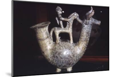 Earthenware Vessel, Villanova Culture, from Bologna, Italy, 8th century BC-Unknown-Mounted Giclee Print