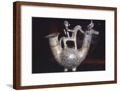 Earthenware Vessel, Villanova Culture, from Bologna, Italy, 8th century BC-Unknown-Framed Giclee Print