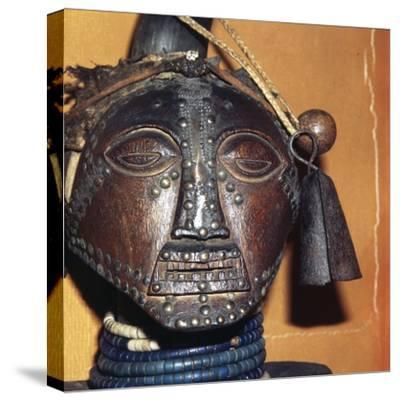 African Mask-Unknown-Stretched Canvas Print