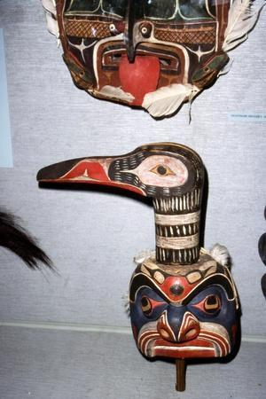 Kwakiutl Diver Mask, with beak, Pacific Northwest, North American Indian-Unknown-Framed Giclee Print