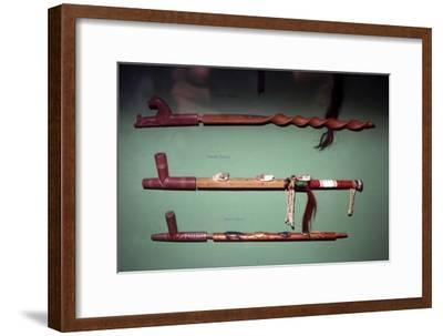 Three Peace-Pipes, Dakota Sioux, North American Indian-Unknown-Framed Giclee Print