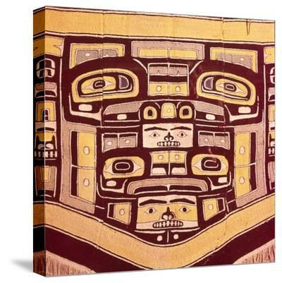 Chief's Blanket with Bear Design, Totemism,Tungit Tribe, Pacific Northwest Coast Indians-Unknown-Stretched Canvas Print