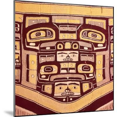 Chief's Blanket with Bear Design, Totemism,Tungit Tribe, Pacific Northwest Coast Indians-Unknown-Mounted Giclee Print