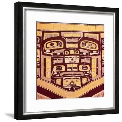 Chief's Blanket with Bear Design, Totemism,Tungit Tribe, Pacific Northwest Coast Indians-Unknown-Framed Giclee Print