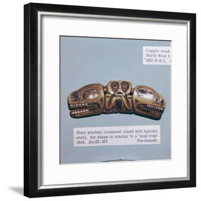Pacific Northwest Coast Indian Haida Tribe, Soul Trap, used by a Shaman-Unknown-Framed Giclee Print