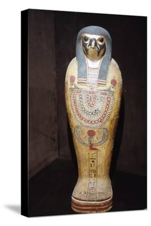 Egyptian Mummy of a Hawk representing Horus, c1st century BC-1st century-Unknown-Stretched Canvas Print
