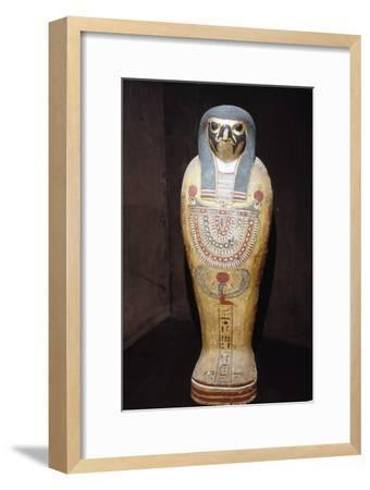 Egyptian Mummy of a Hawk representing Horus, c1st century BC-1st century-Unknown-Framed Giclee Print