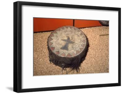 Winnebago Tribe, North American Indian Double headed Drum-Unknown-Framed Giclee Print