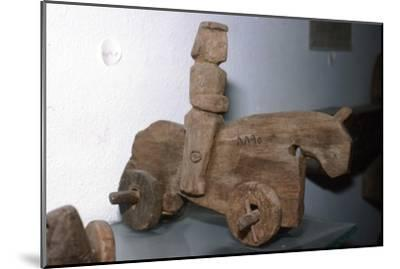 Coptic Wooden Wheeled toy, Horse & rider, c640-1500-Unknown-Mounted Giclee Print